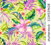 seamless floral pattern  pencil ... | Shutterstock . vector #1134529628
