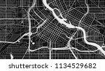 black white map city | Shutterstock .eps vector #1134529682