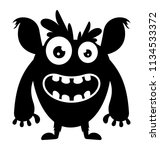an angry faced creature with... | Shutterstock .eps vector #1134533372