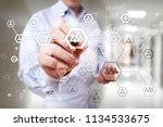 organisation structure chart ... | Shutterstock . vector #1134533675