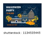 halloween party.  holidays... | Shutterstock .eps vector #1134535445
