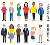 diverse people vector... | Shutterstock .eps vector #1134537098