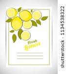 abstract lemon natural... | Shutterstock .eps vector #1134538322