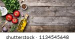 raw organic vegetables with... | Shutterstock . vector #1134545648