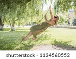 plus size european or american... | Shutterstock . vector #1134560552
