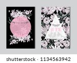 elegant cards with decorative... | Shutterstock .eps vector #1134563942