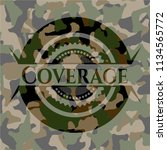 coverage on camo pattern | Shutterstock .eps vector #1134565772