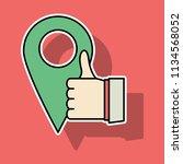 like vector icon. sticker web... | Shutterstock .eps vector #1134568052