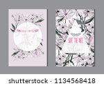 elegant cards with decorative... | Shutterstock .eps vector #1134568418