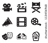 movie icons | Shutterstock .eps vector #113456968