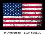 grunge american flag.vector... | Shutterstock .eps vector #1134585602