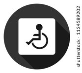 disabled vector icon.paralyzed... | Shutterstock .eps vector #1134589202
