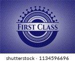 first class emblem with jean... | Shutterstock .eps vector #1134596696