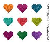 set of vector hearts | Shutterstock .eps vector #1134606602