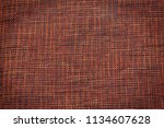 painted red coarse cloth... | Shutterstock . vector #1134607628