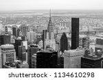 new york city skyscrapers are...   Shutterstock . vector #1134610298