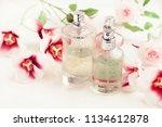 light aroma perfume bottles... | Shutterstock . vector #1134612878