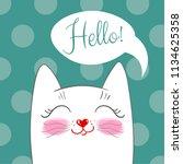 drawing  cartoon style  cute... | Shutterstock .eps vector #1134625358