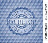 bachelor blue emblem with...   Shutterstock .eps vector #1134625925