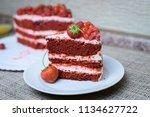 cake with berries | Shutterstock . vector #1134627722