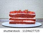 cake with berries | Shutterstock . vector #1134627725