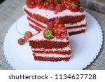 cake with berries | Shutterstock . vector #1134627728