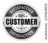 silver customer satisfaction... | Shutterstock .eps vector #1134628025