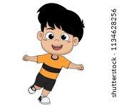 kid won the football match... | Shutterstock .eps vector #1134628256