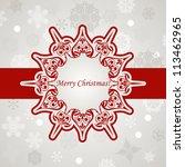 vector christmas greeting card...   Shutterstock .eps vector #113462965