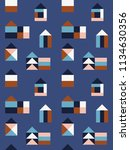 seamless pattern with small... | Shutterstock .eps vector #1134630356
