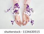 fashion art woman in summer... | Shutterstock . vector #1134630515