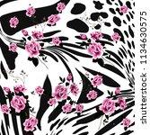 animal print  leopard texture... | Shutterstock . vector #1134630575