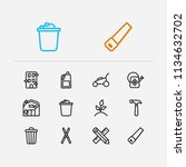 housework icons set. cleaning...