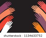 colorful raised in top vector...   Shutterstock .eps vector #1134633752