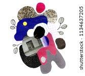 handmade abstract composition... | Shutterstock . vector #1134637205