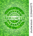 advanced realistic green emblem.... | Shutterstock .eps vector #1134644375