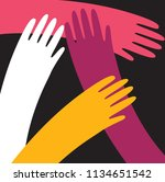 vector hands of the nationality ...   Shutterstock .eps vector #1134651542