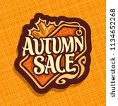 poster for autumn sale ... | Shutterstock . vector #1134652268