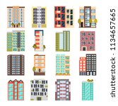 modern multi apartment house... | Shutterstock .eps vector #1134657665