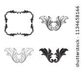 classical baroque vector set of ... | Shutterstock .eps vector #1134658166