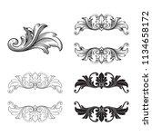 classical baroque vector set of ... | Shutterstock .eps vector #1134658172