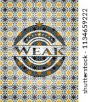 weak arabesque emblem... | Shutterstock .eps vector #1134659222
