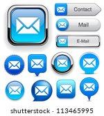 mail blue design elements for... | Shutterstock .eps vector #113465995