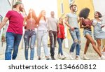 young millennials friends... | Shutterstock . vector #1134660812