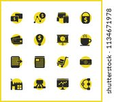 work icons set with cargo... | Shutterstock .eps vector #1134671978