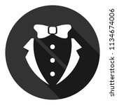suit and bow icon. gentleman...   Shutterstock .eps vector #1134674006
