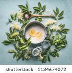 flat lay of ingredients for... | Shutterstock . vector #1134674072