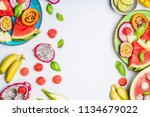 summer clean and healthy... | Shutterstock . vector #1134679022
