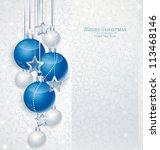 elegant christmas background... | Shutterstock .eps vector #113468146