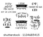 set of 7 funny and sarcastic... | Shutterstock .eps vector #1134685415